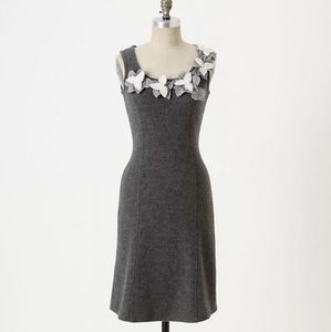 Anthropologie dried leaves dress
